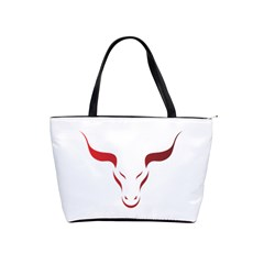 Stylized Symbol Red Bull Icon Design Large Shoulder Bag by rizovdesign