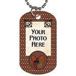Ode to Autumn Dog Tag - Dog Tag (One Side)