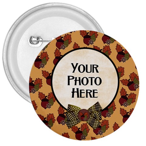 Ode To Autumn Button By Lisa Minor   3  Button   92w77os2v6pd   Www Artscow Com Front