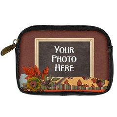 Ode To Autumn Camera Case By Lisa Minor   Digital Camera Leather Case   H6l8a9sy4fc3   Www Artscow Com Front