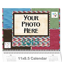 2015 Bloop Bleep Calendar By Lisa Minor   Wall Calendar 11  X 8 5  (12 Months)   8ll2lij61p8g   Www Artscow Com Cover