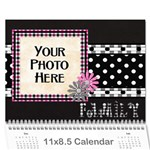 2015 Black White and Pink Calendar - Wall Calendar 11  x 8.5  (12-Months)