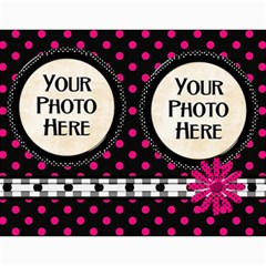 2015 Black White And Pink Calendar By Lisa Minor   Wall Calendar 11  X 8 5  (12 Months)   M3f9n86zzyqc   Www Artscow Com Month