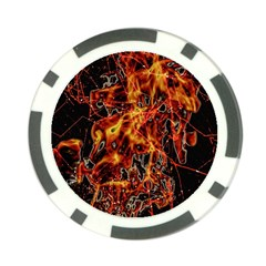 On Fire Poker Chip
