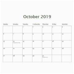 2015 My Blue Inspiration Calendar By Lisa Minor   Wall Calendar 11  X 8 5  (12 Months)   R1kipzg1gts8   Www Artscow Com Oct 2015