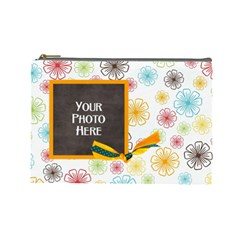 May I? Large Cosmetic Bag By Lisa Minor   Cosmetic Bag (large)   B4c9gaf7bhgm   Www Artscow Com Front