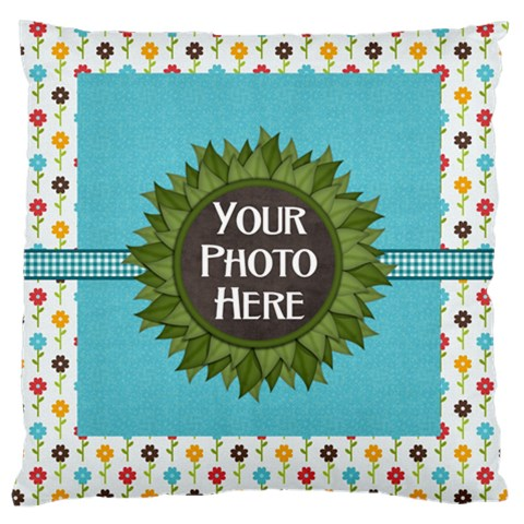 May I? Cushion By Lisa Minor   Large Cushion Case (one Side)   M5qeizadferh   Www Artscow Com Front