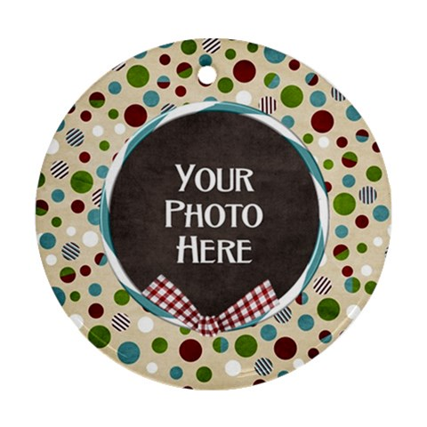 Christmas Dazzle Ornament By Lisa Minor   Ornament (round)   Rblsk4mm5caj   Www Artscow Com Front