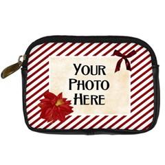 Christmas Dazzle Camera Case By Lisa Minor   Digital Camera Leather Case   99vgk31b64y8   Www Artscow Com Front