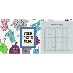 2015 Monster Party 11x5 Calendar By Lisa Minor   Desktop Calendar 11  X 5    87mx28nsn83f   Www Artscow Com Oct 2015