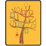 Hand painted Photo Tree, Family Tree blanket M - Fleece Blanket (Medium)