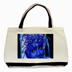 Water Nymph Twin Sided Black Tote Bag by icarusismartdesigns