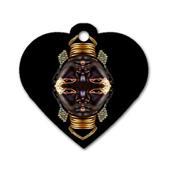 African Goddess Dog Tag Heart (two Sided) by icarusismartdesigns