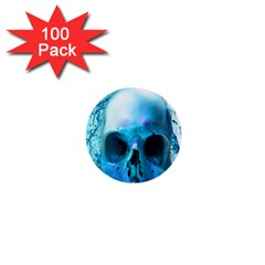 Skull In Water 1  Mini Button (100 Pack) by icarusismartdesigns