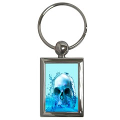 Skull In Water Key Chain (rectangle) by icarusismartdesigns