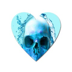Skull In Water Magnet (heart) by icarusismartdesigns