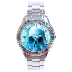 Skull In Water Stainless Steel Watch by icarusismartdesigns