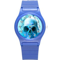 Skull In Water Plastic Sport Watch (small) by icarusismartdesigns