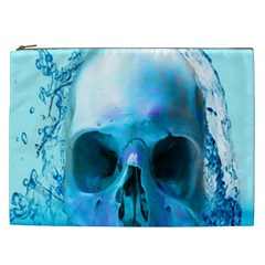 Skull In Water Cosmetic Bag (xxl) by icarusismartdesigns
