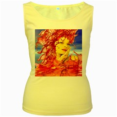 Tears Of Blood Women s Tank Top (yellow) by icarusismartdesigns