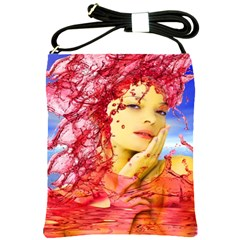 Tears Of Blood Shoulder Sling Bag by icarusismartdesigns