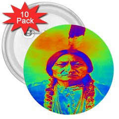 Sitting Bull 3  Button (10 Pack) by icarusismartdesigns