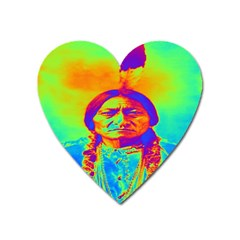 Sitting Bull Magnet (heart) by icarusismartdesigns