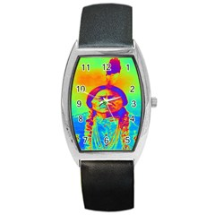 Sitting Bull Tonneau Leather Watch by icarusismartdesigns