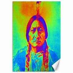 Sitting Bull Canvas 12  X 18  (unframed) by icarusismartdesigns