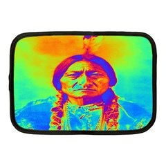 Sitting Bull Netbook Sleeve (medium) by icarusismartdesigns