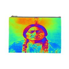 Sitting Bull Cosmetic Bag (large) by icarusismartdesigns