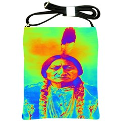 Sitting Bull Shoulder Sling Bag by icarusismartdesigns