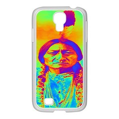Sitting Bull Samsung Galaxy S4 I9500/ I9505 Case (white) by icarusismartdesigns