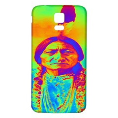 Sitting Bull Samsung Galaxy S5 Back Case (white) by icarusismartdesigns