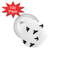 Waterproof Temporary Tattoo      Three Birds 1 75  Button (100 Pack) by zaasim