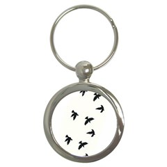 Waterproof Temporary Tattoo      Three Birds Key Chain (round) by zaasim