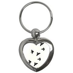 Waterproof Temporary Tattoo      Three Birds Key Chain (heart) by zaasim