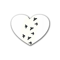 Waterproof Temporary Tattoo      Three Birds Drink Coasters 4 Pack (heart)  by zaasim