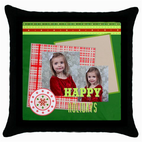 Xmas By Xmas   Throw Pillow Case (black)   0x4rll4iilyk   Www Artscow Com Front