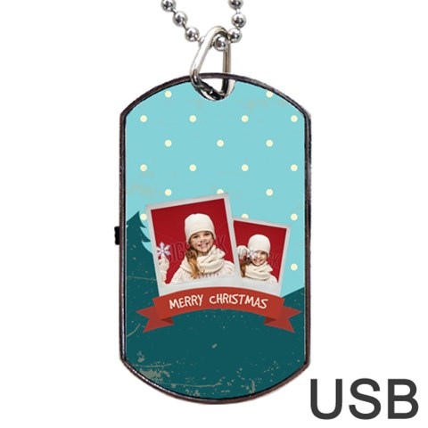 Xmas By Xmas   Dog Tag Usb Flash (one Side)   Voqqp9w30904   Www Artscow Com Front