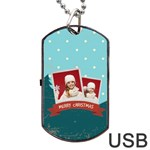 xmas - Dog Tag USB Flash (One Side)
