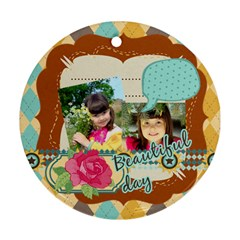 Kids By Kids   Round Ornament (two Sides)   Fkg5x0jh0wgv   Www Artscow Com Front