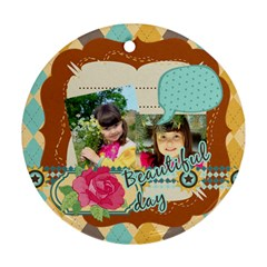 Kids By Kids   Round Ornament (two Sides)   Fkg5x0jh0wgv   Www Artscow Com Back