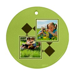 Kids By Kids   Round Ornament (two Sides)   V1b55qge079o   Www Artscow Com Front