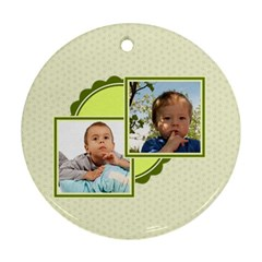 Kids By Kids   Round Ornament (two Sides)   V1b55qge079o   Www Artscow Com Back