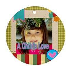 Kids By Kids   Round Ornament (two Sides)   M9jaeqpmwdek   Www Artscow Com Back