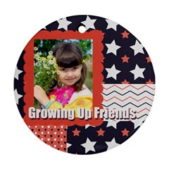 Kids By Kids   Round Ornament (two Sides)   9j4voo1ibl0s   Www Artscow Com Back