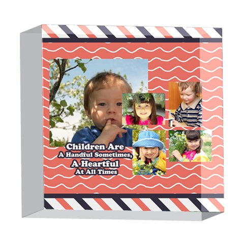 Kids By Kids   5  X 5  Acrylic Photo Block   Uvgc8wp6gxpk   Www Artscow Com Front
