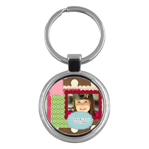 Kids By Kids   Key Chain (round)   B1h2boe2i45y   Www Artscow Com Front