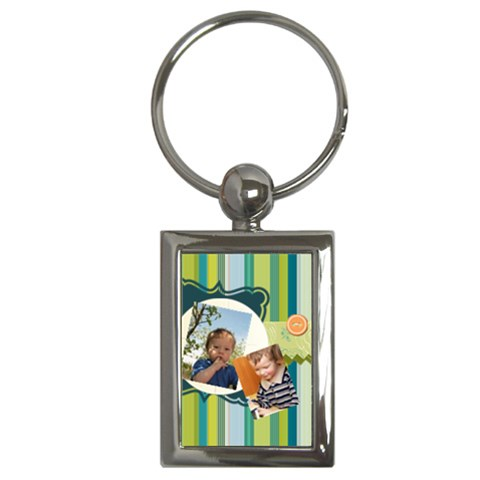 Kids By Kids   Key Chain (rectangle)   Lmwvjtnybt1v   Www Artscow Com Front